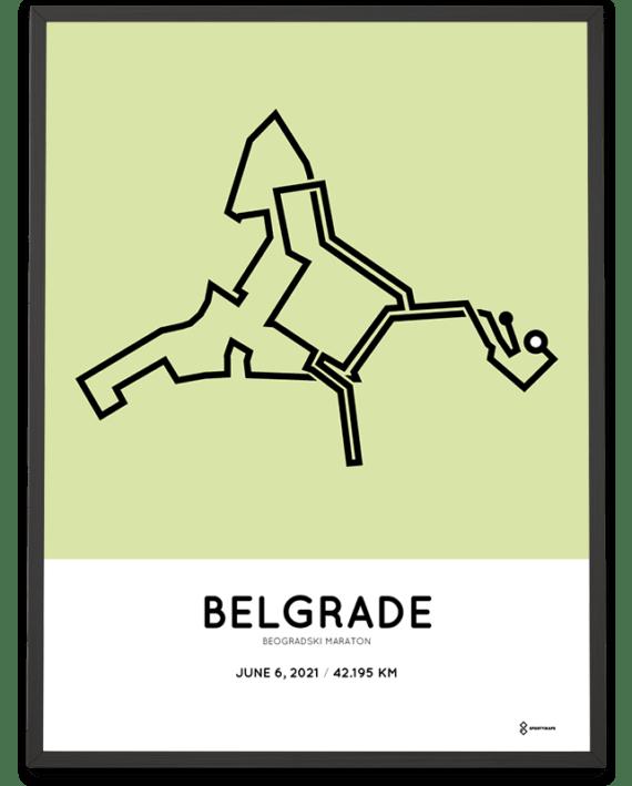 2021 Belgrade marathon sportymaps print