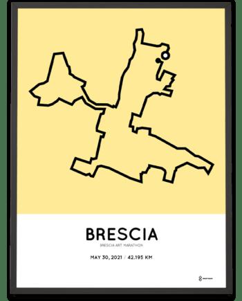 2021 Brescia Art marathon course poster