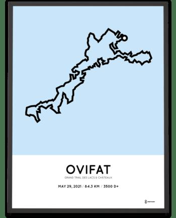 Grand Trail des Lacs et Chateaux route poster