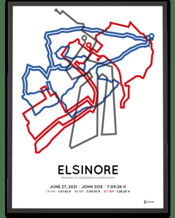 2021 Ironman 70.3 Elsinore routemap print