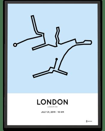 2019 London 10k routemap print
