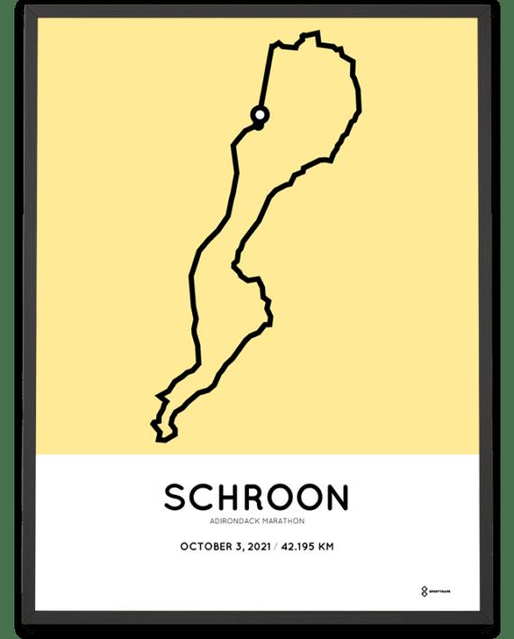 2021 Adirondack marathon course poster