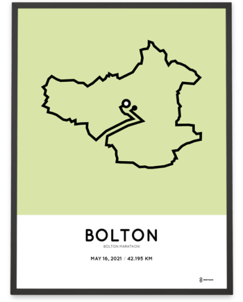 2021 Bolton Marathon course poster