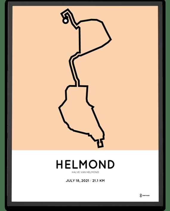 2021 Helmond half marathon route poster