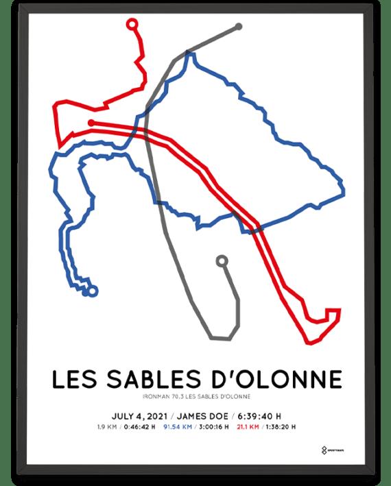 2021 Ironman 70.3 Les Sables d'olonne parcours poster