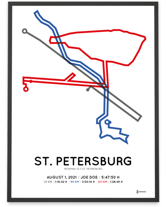 2021 Ironman 70.3 st. Petersburg course poster
