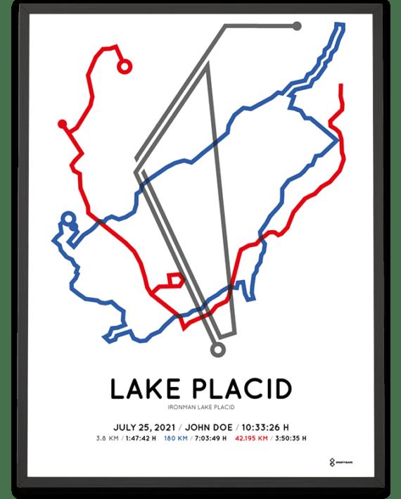 2021 Ironman Lake Placid Sportymaps course poster
