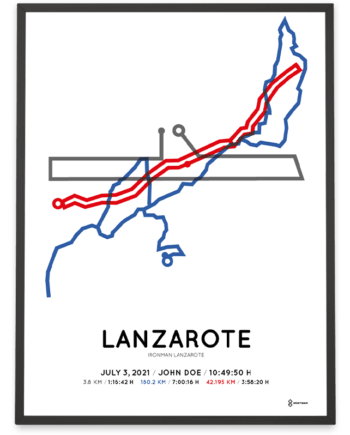 2021 Ironman Lanzarote course poster