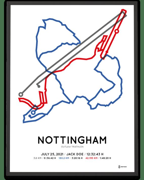 2021 Outlaw Triathlon Sportymaps course poster