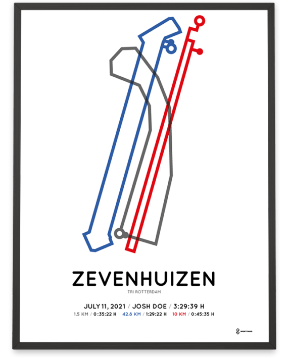 2021 Tri Rotterdam Olympic Distance course poster