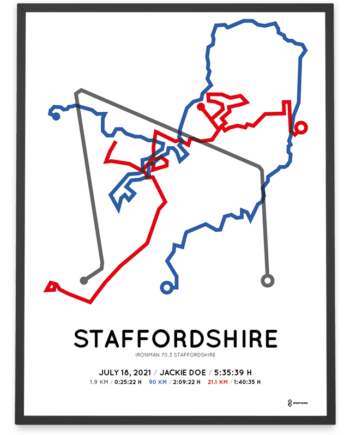 2021 ironman 70.3 staffordshire course poster