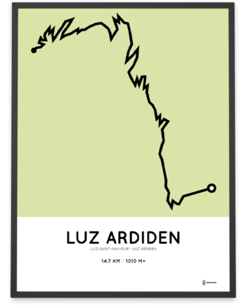 Luz Ardiden parcours (Luz-saint-sauveur) route print