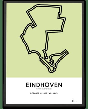 2007 Eindhoven marathon route poster