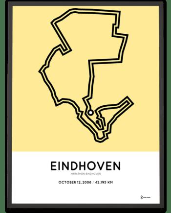 2008 Eindhoven marathon route poster Sportymaps