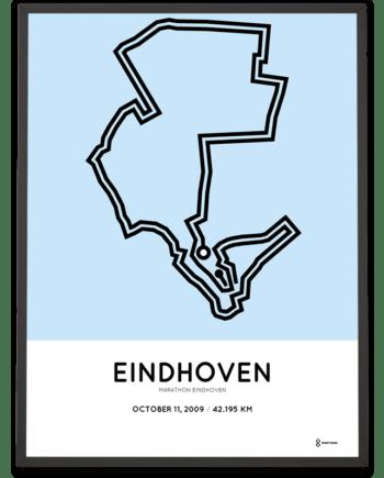 2009 Eindhoven marathon routemap print