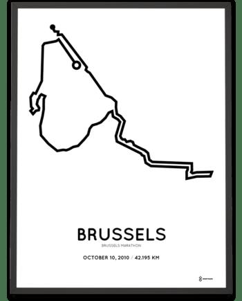 2010 Brussels marathon parcours poster