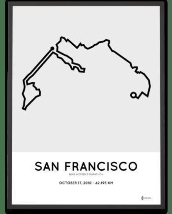2010 San Francisco Womens Marathon course poster