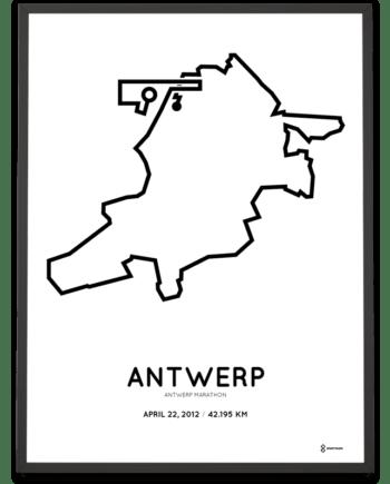 2012 Antwerp marathon course poster