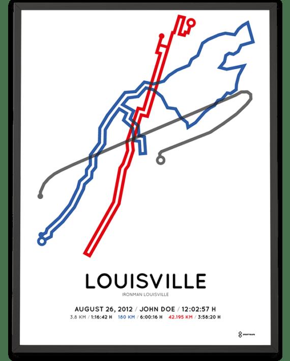2012 Ironman Louisville course poster