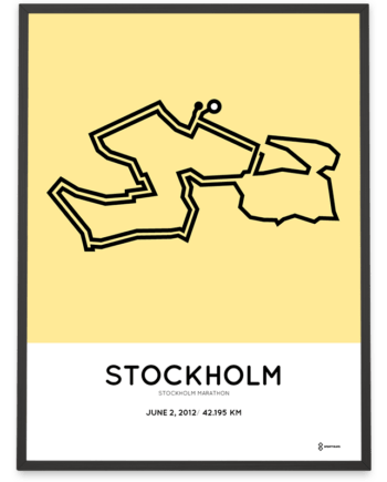 2012 Stockholm marathon course poster