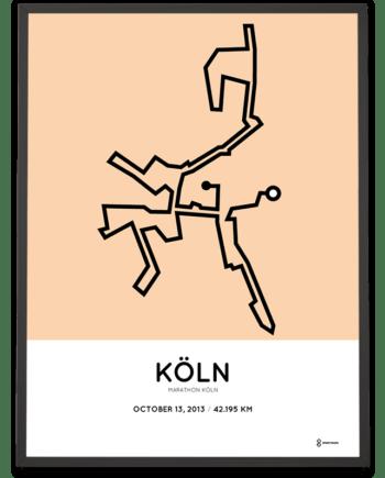 2013 Köln marathon strecke print