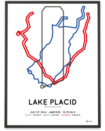 2014 Ironman Lake Placid course poster