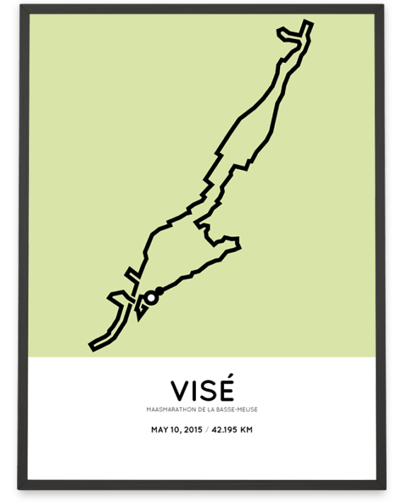 2015 Maasmarathon parcours Sportymaps poster