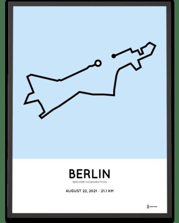 2021 Berlin Half marathon route poster