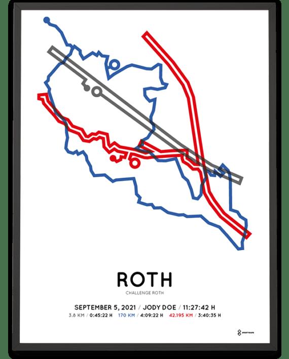2021 Chalenge Roth Sportymaps Strecke poster