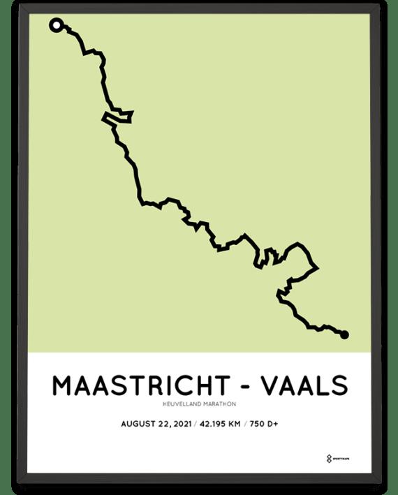 2021 Heuvelland Marathon parcours poster