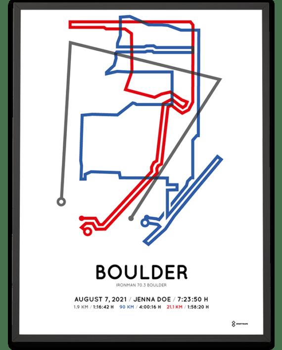 2021 Ironman 70.3 Boulder Sportymaps course poster