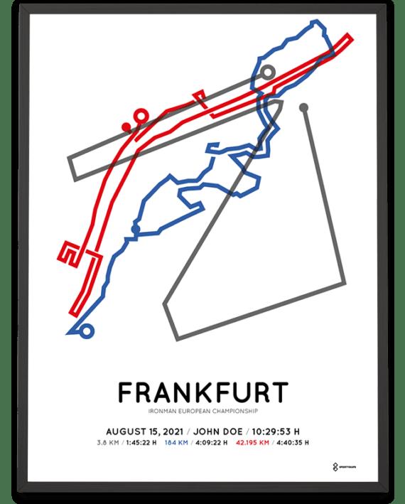 2021 Ironman European Championship Frankfurt course poster