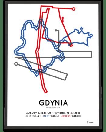 2021 Ironman Gdynia Sportymaps course poster