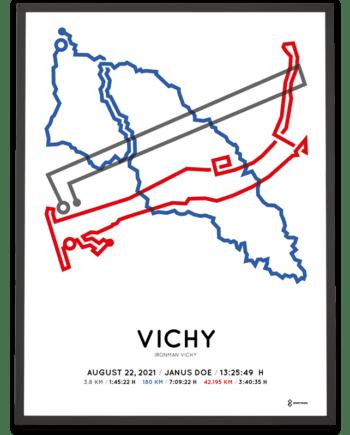 2021 Ironman Vichy parcours print