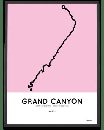 Grand Canyon Rim to Rim Bright Angel Trail sportymaps poster