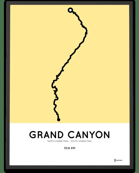 Grand Canyon Rim to Rim Kaibab Trail poster