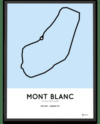 Tour du Mont Blanc route poster