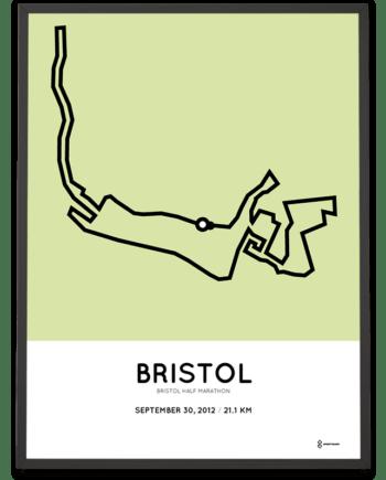 2012 Bristol half marathon Sportymaps course poster