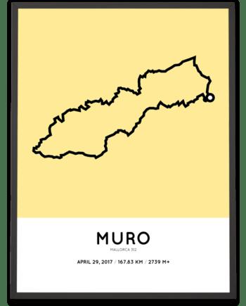 2017 Mallorca 312 short distance routemap print