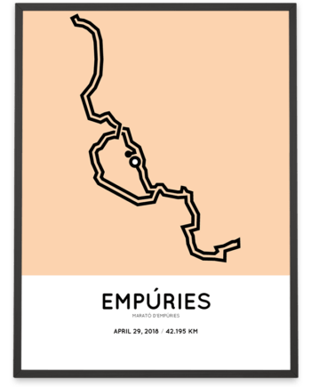 2018 Empúries marathon course poster