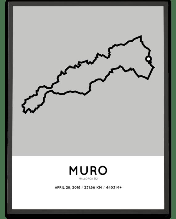 2018 Mallorca 312 middle distance parcours poster Sportymaps