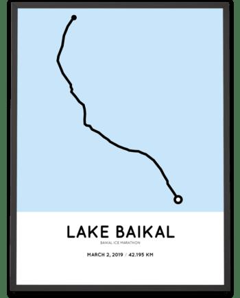 2019 Baikal Ice Marathon Sportymaps course poster