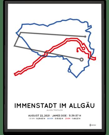 2021 Allgäu traithlon strecke poster