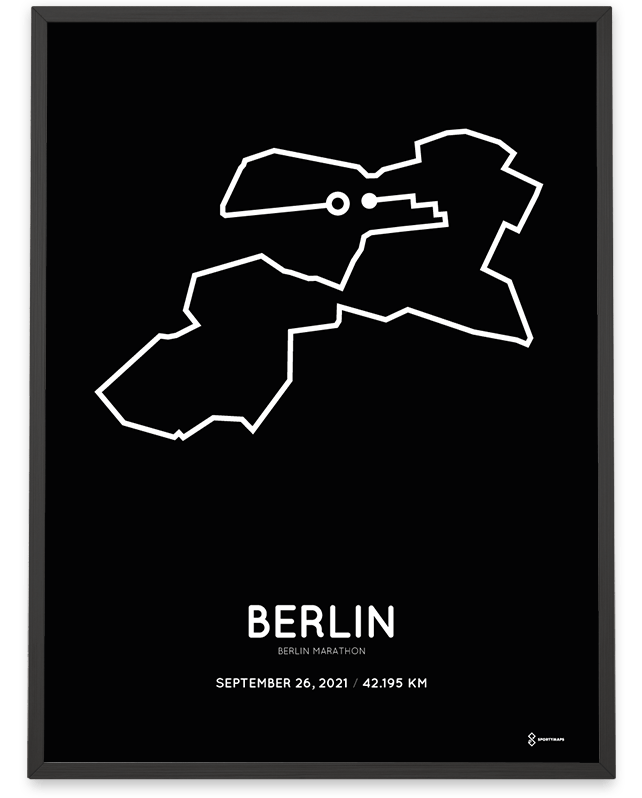 2021 Berlin marathon Sportmaps course print
