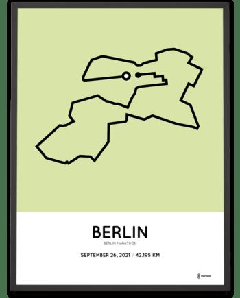 2021 Berlin marathon strecke poster