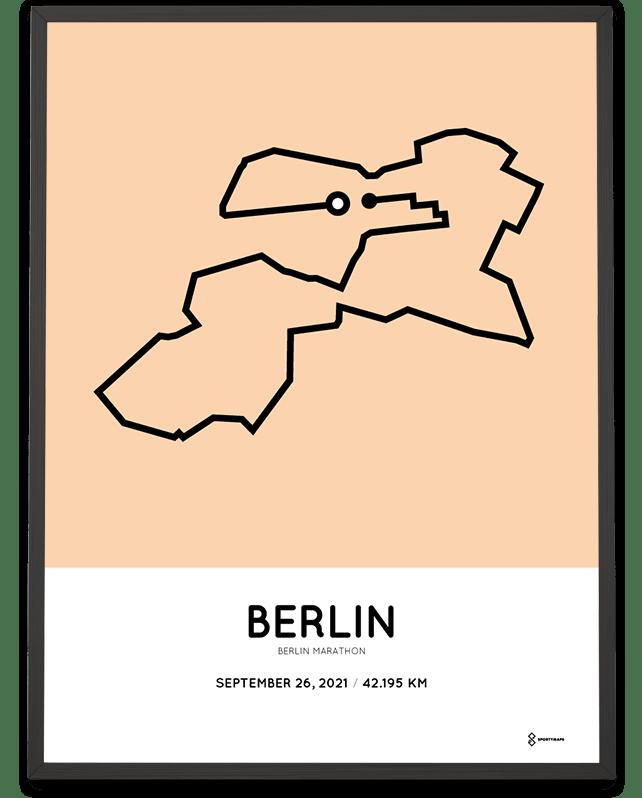 2021 Berlin marathon course print
