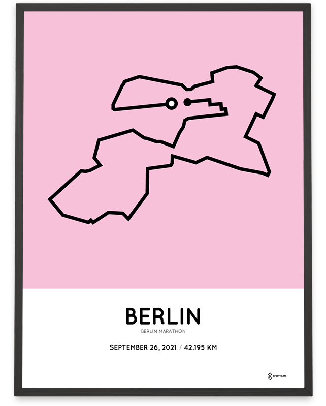 2021 Berlin marathon routemap poster