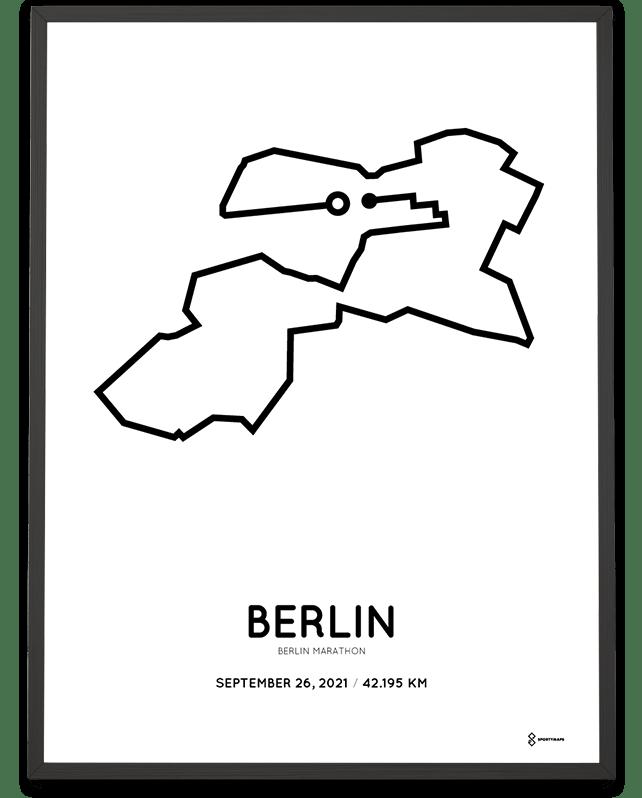 2021 Berlin marathoner map by Sportymaps