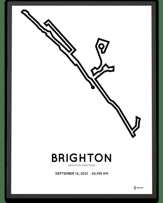 2021 Brighton Marathon course poster