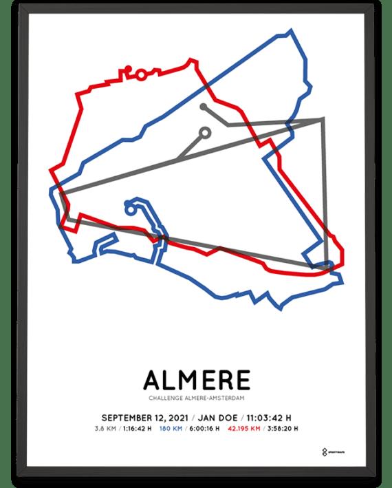 2021 Challenge Almere-Amsterdam route poster